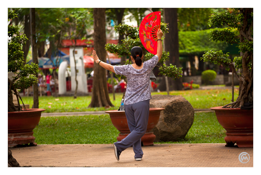 Tai Chi in the park, Ho Chi Minh City, Vietnam