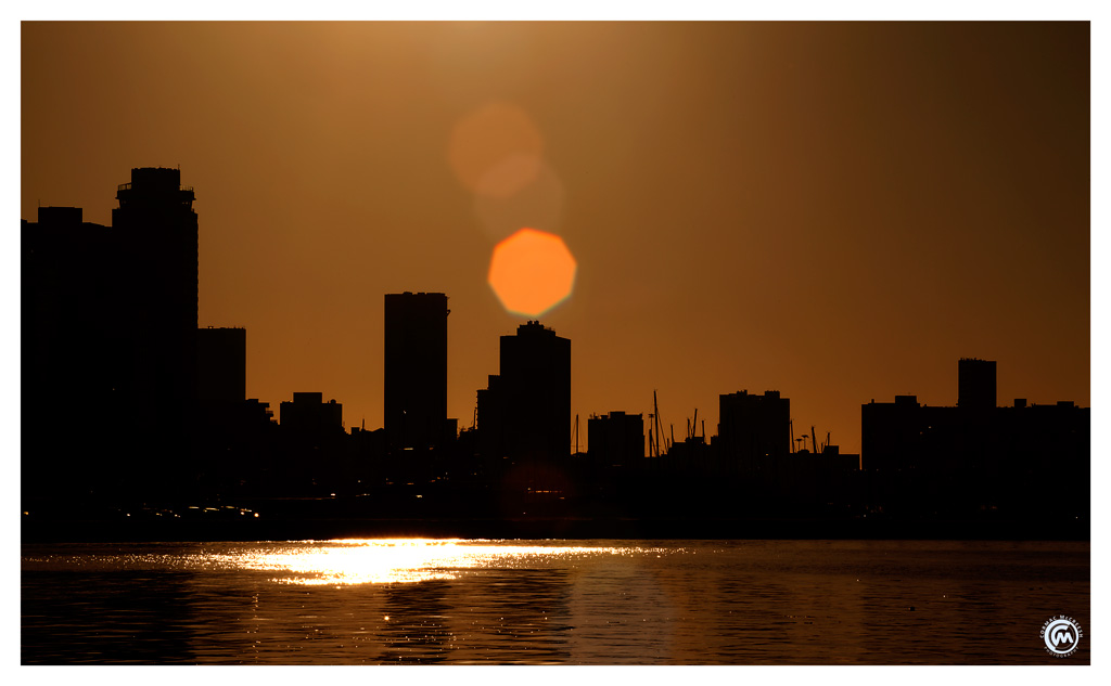 Durban at dawn from the harbor